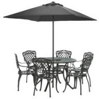 Argos Home Kensington Cast Aluminium Dining Set - Black