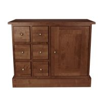 Garrat Cherry 1 Door 6 Drawer Sideboard