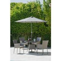 Argos Home Havana 4 Seater Rattan Effect Patio Set