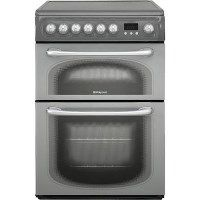 Hotpoint 60HEG 60cm Wide Electric Cooker With Ceramic Hob - Black