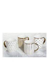 Waterside Metallic Gold Mugs &Ndash; Set Of 4