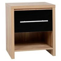 Seville Black Bedside Table