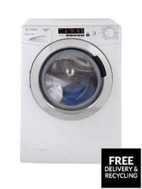 Candy Grand'O VitaGVS1410DC310kgLoad, 1400 Spin Washing Machine with Smart Touch - White/Chrome