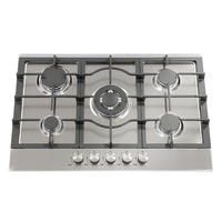 Montpellier GH71X 75cm Five Burner Gas Hob - Stainless Steel With Cast Iron Pan Supports