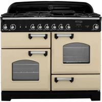 Rangemaster Classic CLA110NGFCR/C 110cm Gas Range Cooker - Cream / Chrome - A+/A Rated