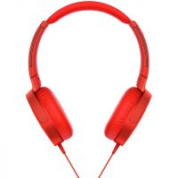 Sony MDR-XB550AP On-Ear Wired Headphones - Red