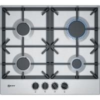 Neff T26DS49N0 59cm Four Zone Gas Hob Stainless Steel With Cast Iron Pan Stands