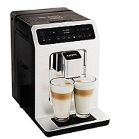 Krups Chrome 'Evidence' automatic espresso bean to cup coffee machine - EA893C40