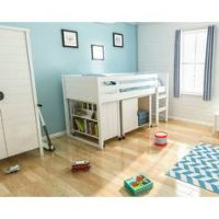 Jango Mid Sleeper Bed Frame with Bookcase & Cupboard