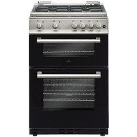 New World DF600MD 60cm Dual Fuel Cooker With Glass Lid - Silver