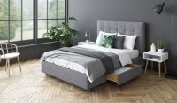 Your Bed Your Way Upholstered Bed Frame with Atlas Headboard