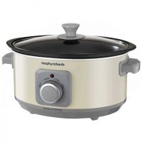 Morphy Richards Evoke Sear And Stew 460013 3.5 Litre Slow Cooker - Cream
