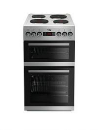 Beko KDV555AW 50cm Double Oven Electric Cooker - White