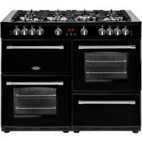 Belling Farmhouse110GT 110cm Gas Range Cooker - Black - A/A Rated