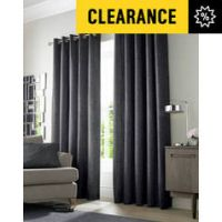 Academy Eyelet Curtains - 229x229cm - Charcoal