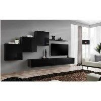 Floating Entertainment Unit in Black High Gloss - Neo