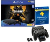 SONY PlayStation 4 500 GB with Call of Duty: Black Ops 4, Docking Station & PlayStation Plus Subscription Bundle