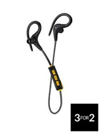 Kitsound Race Wireless Bluetooth Sports Hook In-Ear Headphones with Track Controls – Black