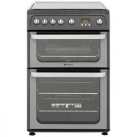 Hotpoint Ultima HUG61G 60cm Gas Cooker with Variable Gas Grill - Graphite