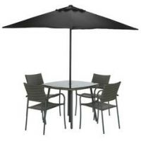 Argos Home Cusco Rattan 4 Seater Dining Set