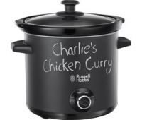 RUSSELL HOBBS Chalk Board 24180 Slow Cooker - Black