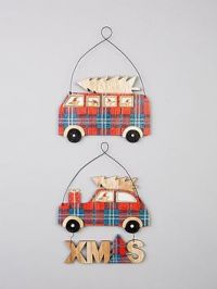 Sass & Belle Set Of 2 Mouse Hanging Tree/Wall Plaques