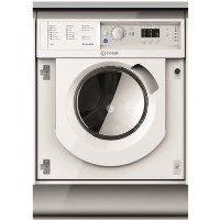 Indesit BIWDIL7125 7kg Wash 5kg Dry Integrated Washer Dryer With Push&Go