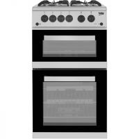 Beko KDVG592S Gas Cooker with Full Width Gas Grill - Silver - A+/A Rated