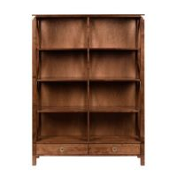 Balmoral Cherry 2 Drawer Double Bookcase