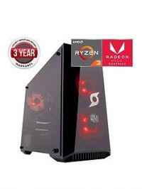 Zoostorm Stormforce Onyx AMD Ryzen 3 Processor, 8Gb RAM, 1Tb Hard Drive, Gaming PC with AMD Vega Graphics