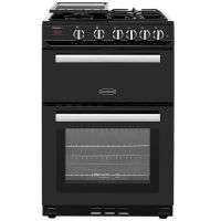 Rangemaster Professional Plus 60 PROP60NGFBL/C 60cm Gas Cooker with Variable Gas Grill - Black / Chrome - B/B Rated