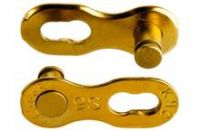 KMC Missing Link TI-N Gold Reusable 9 Speed 2 Pack