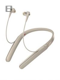 Sony WI-1000X Wireless In-Ear Noise Cancelling High Resolution Headphones with Activity Recognition, 10-Hour Battery Life - Gold