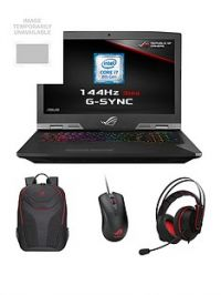 Asus ROG G703GI-E5005R Intel Core i7H, GeForce GTX1080, 32GB RAM, 1TB SSHD & 256GB SSD, 17.3in IPS 144Hz Gaming Laptop with Bag, Mouse & Headset