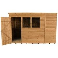 Forest 10 x 6ft Overlap Wooden Pent Shed