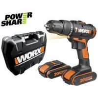 WORX Cordless Hammer Drill with 2 20V Batteries