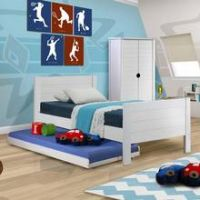 Jango Single Bed Frame with Trundle Bed
