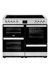 Belling 100E Belling Cookcentre 100Cm Electric Range Cooker Stainless Steel - Rangecooker Only