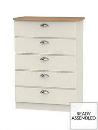Charlotte Ready Assembled 5 Drawer Chest