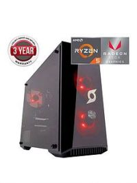 Zoostorm StormForce Onyx AMD Ryzen 5, 8GB RAM, 1TB HDD & 120GB SSD, Gaming PC with AMD Vega Onboard Graphics