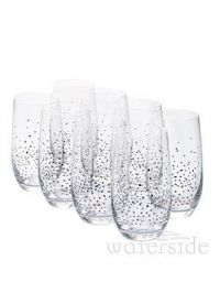 Waterside Silver Star Hi-Ball Glasses &Ndash; Set Of 8