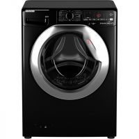 Hoover Dynamic Next DWOA412AHC8B Wifi Connected 12Kg Washing Machine with 1400 rpm - Black / Chrome - A+++ Rated