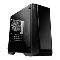 Antec P6, Black, MicroATX PC Case, Tempered Glass Window, mATX/mITX, 120mm White LED Fan, Front LED Logo Projection