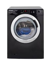 Candy Grand'O Vita GVS1410DC3B 10kg Load, 1400 Spin Washing Machine with Smart Touch - Black