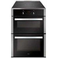 CDA CFN670SS 60cm Double Oven Electric Cooker With Induction Hob - Stainless Steel