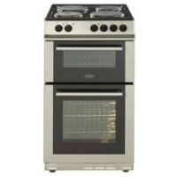 Belling FS50EFDO 50cm Twin Cavity Electric Cooker - Silver