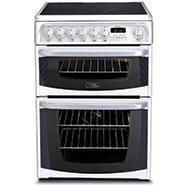 Hotpoint CH60EKWS Kendal 60cm Double Oven Electric Cooker With Ceramic Hob - White