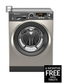 Hotpoint Ultima S-Line RPD9467JGG 9kg Load, 1400 Spin Washing Machine A+++ Energy Rating - Graphite