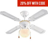 Argos Home Ceiling Fan - White