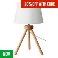 Argos Home Retreat Tripod Table Lamp - Wooden